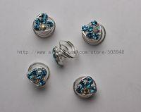 (12 Pcs)Free Ship 12pcs Wedding Bridal Crystal Hair Twists Coils Spirals Spins Pins