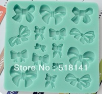 Min order $15 (mix order) Free shipping bowknot silicone cake mold new fondant soap mold cake decorating tools baking