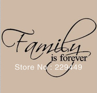 Free Shiping Family Is Forever!Home Decoration Love Letters Happy Family Quotes Wall Stickers Wall Art Decor DIY For Bedroom