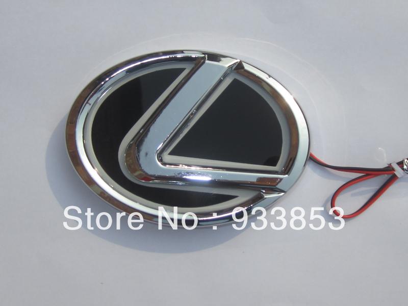 2013 Newest Design 10.5*6.8cm Lexus LED logo decorative light 3color(red,blue,white)(China (Mainland))