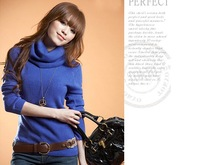 Women's white 2013 all-match turtleneck short design faux wool basic shirt long-sleeve sweater