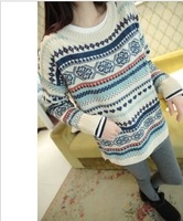 2013 brief autumn and winter preppy style casual all-match fashion pullover sweater female