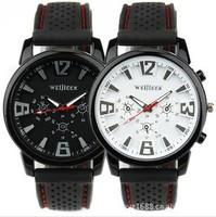 2014 New Fashion Weijieer GT men's military army rubber silicone strap quartz analog outdoor sports brand watch wristwatch WTH11