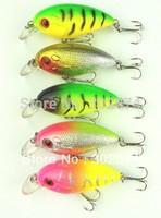5PCS/LOT Fishing Lures 6CM-7.7G-8# hooks Hard crank bait wobblers fishing tackle lure crankbait free shipping