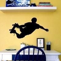 Free Shipping Home Decor RSkate Skateboard Boy Kids Wall Art Vinyl Decal Sticker Wall Stickers 28 x 56 CM