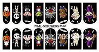 New Arrival !! Free shipping Full halloween nail art sticker water decals 16wraps/sheet , 15 sheets/lot Item No. T2-140