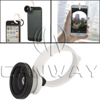 Free shipping 180 Detachable Fish Eye Fisheye Lens for iPhone 4S 4G 5 5s 5G HTC One Samsung i9300 S4 S3