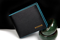 Fashion Business Men's Leather Wallets Black Color Horizontal / Vertical version wallet Leather Cowhide Cluth Wallets For Man