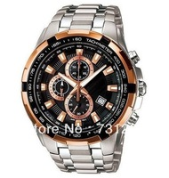 Free Shipping NEW EF-539D-1A5V EF-539D 539D MENS 100M STAINLESS STEEL CHRONOGRAPH WATCH