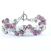 Crystal Beads Bracelets With Charms  Jewelry For Women Cheap Price Wholesale Free Shipping bd0029