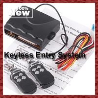 DHL EMS Free Shipping Hot Universal Car Keyless Entry System With Controllers Wholesale 10sets/lot