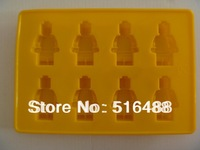 Robot Silicone Ice Cube Tray Mold Maker Ice Cream Mould for Lego Kids ice mold Free shipping
