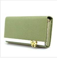Free Shipping  2013 New   Long Design Women'S Wallet  Famous Brand Women Leather Wallet