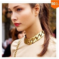 TB-012 Artilady hot sale 18k gold chunky chain necklace jewelry neckalce with bracelet choker collar necklace 2013 women jewelry