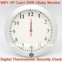 HD 720P WIFI & IP Camera Clock DVR W adjustable lens wireless 30fps Free Shipping