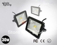 Black cover outdoor lighting led floodlight RGB with remote controller 30W portable Flood light 6pcs/lot