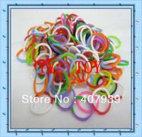 Free ship DHL  Double color 300pcs/bag colorful loom bands Double color loom rubber bands loom kit DIY bracelets