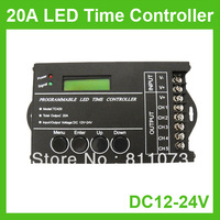 5PCS/LOT DC12V - 24V 20A 5 Channels Programmable LED Time Controller For Strip Light