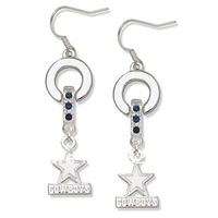 Free shipping Classic dallas cowboys  MVP crystal earrings 20 pairs a lot