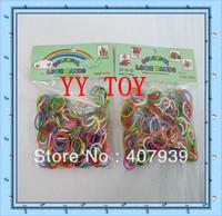 Free ship DHL  Double color 600pcs/bag colorful loom bands Double color loom rubber bands loom kit DIY bracelets
