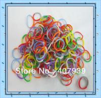 Free ship DHL  Double color 50bags 600pcs/bag colorful loom bands Double color loom rubber bands loom kit DIY bracelets