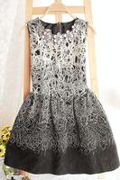 2013 winter o-neck sparkling diamond flower sleeveless tank dress female autumn one-piece dress a-line skirt basic