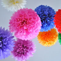 Wedding supplies decoration hand DIY paper flowers ball wall Mounted for party ornament 24.5cm