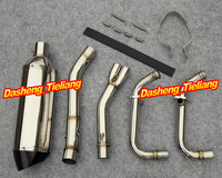 For Kawasaki 2008-2011 Ninja 250R EX250R Stainless Steel + Titanium Motorcycle Exhaust Pipes Top Quality
