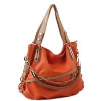 New Arrived Spring and summer PU women's handbag messenger bag chain bag big bag multifunctional E001