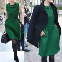 2013 autumn slim plus size sleeveless vest one-piece dress vest skirt necklace aa