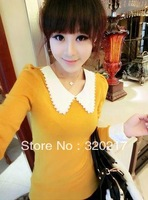 Free Shipping Hook Cute Doll Led Flower Cultivate One's Morality Sweater Knitting Coat Yellow Red White Blue