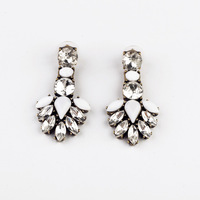 Fashion fashion accessories vintage crystal leaves stud earring accessories