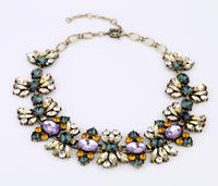 Fashion fashion accessories vintage luxurious crystal short design necklace