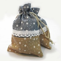 FREE SHIPPING 10 PCs Jute Drawstring Bags Pouches Jewelry Bags Wedding Party Candy Christmas Gift Bags 14.5x9.5CM