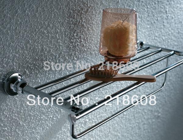 Bathroom Accessories Solid Brass Shelf for Bathroom Wall Shelves(China (Mainland))
