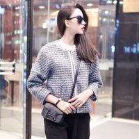 zd08055 2014 New Arrival Small Sweet Wind Nail Bead Wool Women Tweed Coats Free Shipping