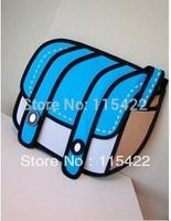 drop shipping 2d 3d canvas shoulder gismo messenger tote for women cartoon handbag