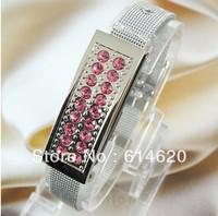 Crystal Bracelet Watch USB 2.0 Memory Drive Pen Disk Stick 4gb 8gb 16gb 32gb+Free Shipping