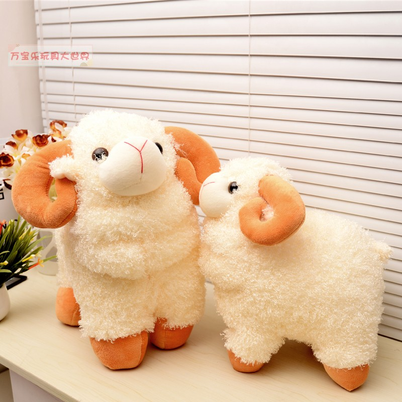 Gift cartoon child sheep plush toy cloth doll sheep doll christmas gift(China (Mainland))