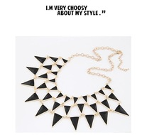 Min.Order $10(Mix order) European& American Epoxy Chokers Necklace Fashion Ladies Gold tone Necklaces