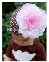 FREE SHIPPING----Soft Cotton Girl Flower Dot Beanies Hats Children Springy Caps Kid Spring/Autumn Hats Toddler Knitted Caps 1pcs