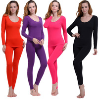 Modal seamless body shaping beauty care plus size thermal underwear slim long johns long johns female