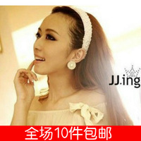 2214 accessories the bride wedding hair accessory handmade beaded pearl wide headband hair bands