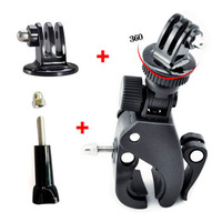 F06642-A Fast Clip Release Bike Handbar Mount Dia 17-35MM Bar + Tripod Mount Adapter + Long Screw with Cap for GoPro HERO 3 +FS