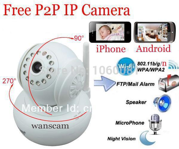 2013 New arrival IP camera Wireless Indoor use WiFi WPA Network Webcam ip p2p camara IP Internet for home security Camera(China (Mainland))