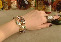 Mix order>=15usd Fashion accessories ladyfly dragonfly flowers vintage bracelet sl178