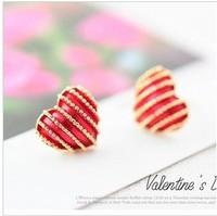 E140  Free Shipping Wholesele 2014 New Hot Fashion Fringe Heart Earrings Jewelry Direct selling