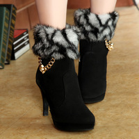 2013 high-heeled boots platform thin heels shoes women's high-heeled winter boots autumn tassel maomao boots