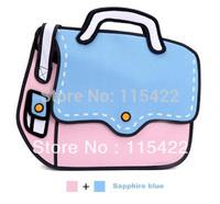 hot sale women and men 2d 3d cartoon shoulder bag canvas messenger gismo cartoon bag free shipping