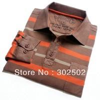 2013 Spring  Autumn Clothes Men's  casual Long-sleeve T-shirt  / men's plaid  t-shirt